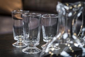 WINE glass on floor