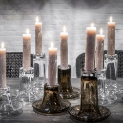 candleholder LUZ clear & topaz